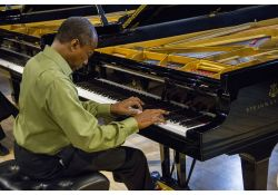 Maestro Harvey on Steinway Grand